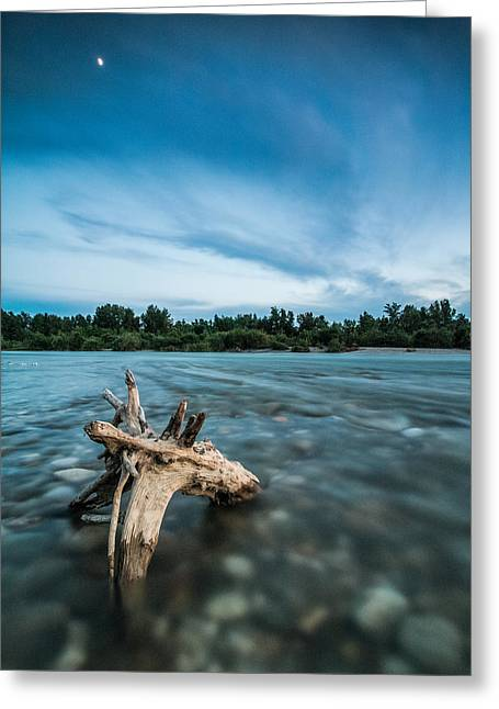 River At Night Greeting Card by Davorin Mance