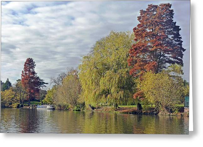 River Avon In Autumn Greeting Card