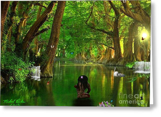 River Beauty Greeting Card by Michael Rucker
