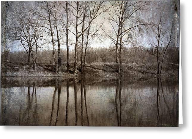 River Greeting Card by Bernard Jaubert