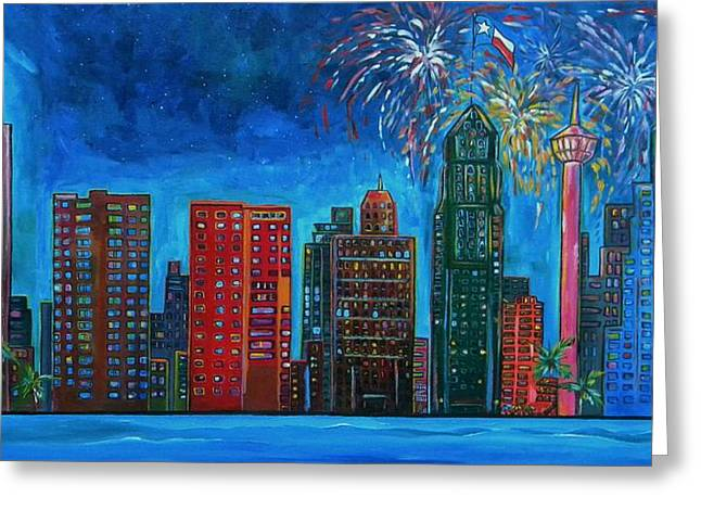 River City Skyline Greeting Card