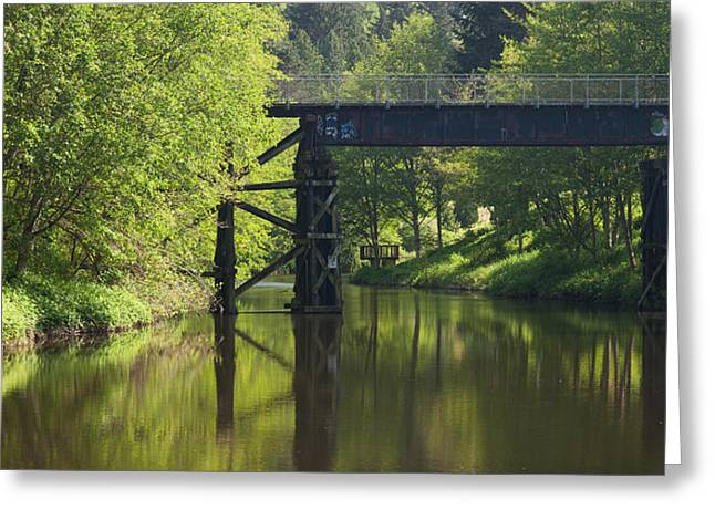 River Crossing Greeting Card by Mike Reid