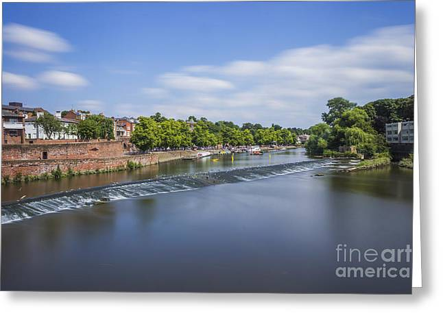 River Dee Chester Greeting Card by Ian Mitchell