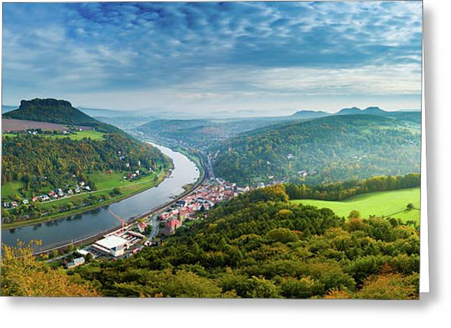 River Elbe Greeting Card by Wladimir Bulgar