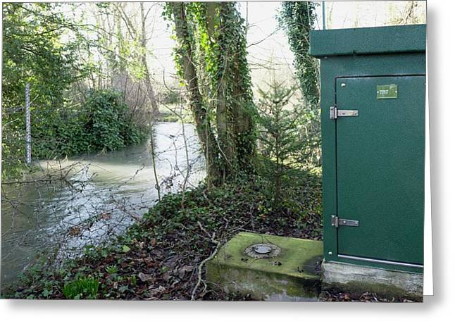 River Flow Metering Station Greeting Card