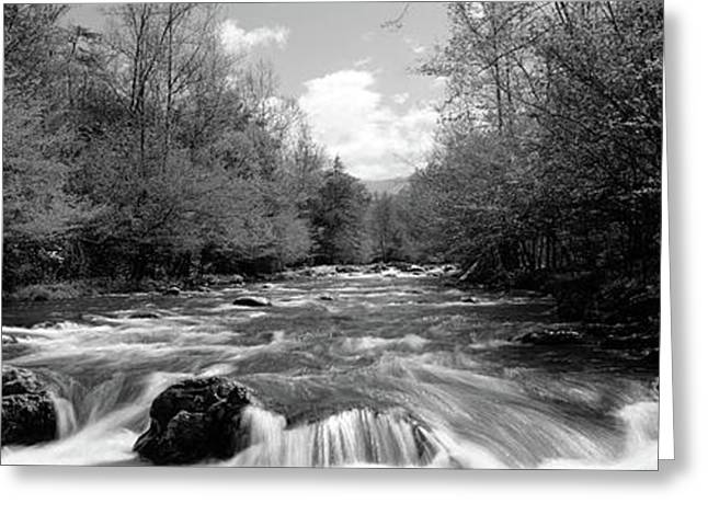 River Flowing Through Rocks Greeting Card by Panoramic Images