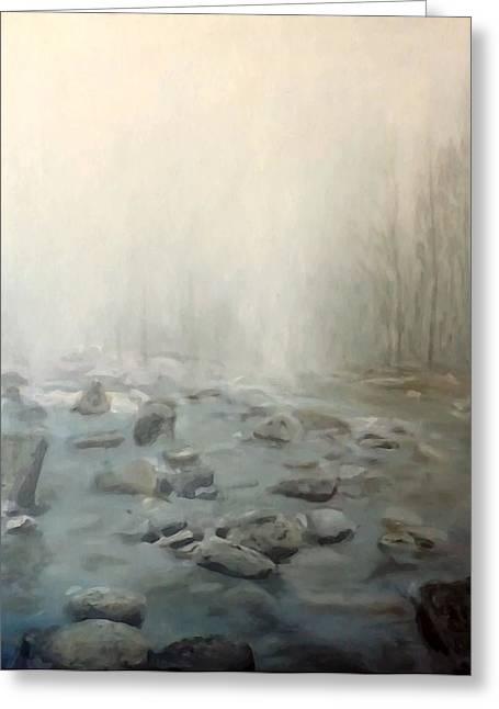 River Fog Greeting Card