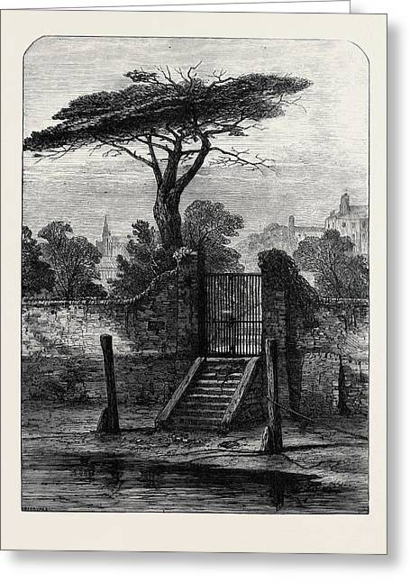 River Gate Botanic Garden Chelsea 1873 Greeting Card