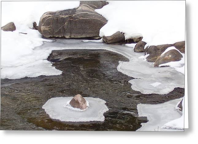 River Ice Greeting Card by Yvette Pichette