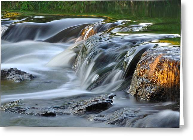 River In Slow Motion Greeting Card by Todd Soderstrom