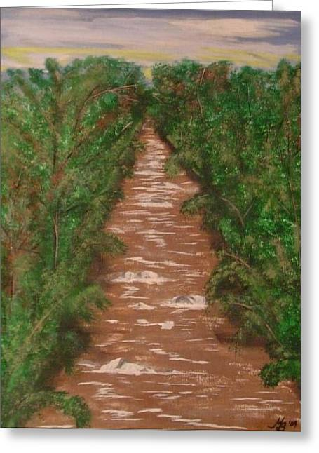 River In Tennessee Greeting Card by Melanie Blankenship