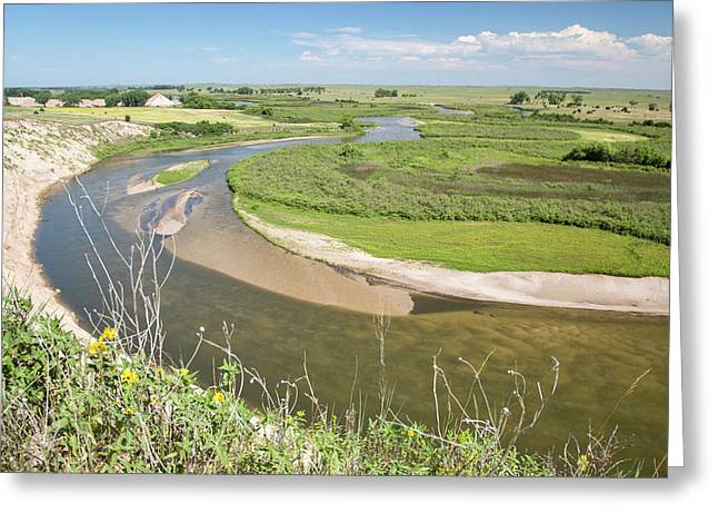 River In The Nebraska Sandhills Greeting Card