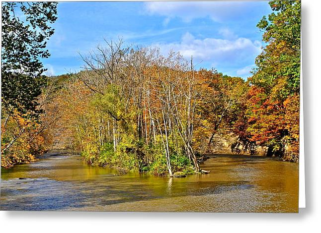 River Island Greeting Card by Frozen in Time Fine Art Photography