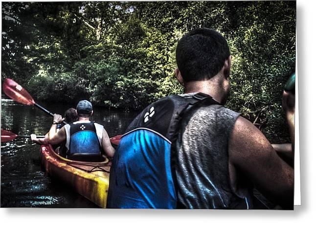 River Kayaking Greeting Card