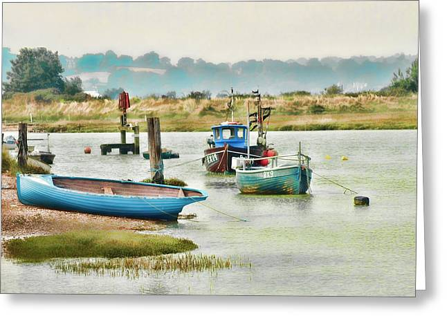 River Life Greeting Card by Sharon Lisa Clarke