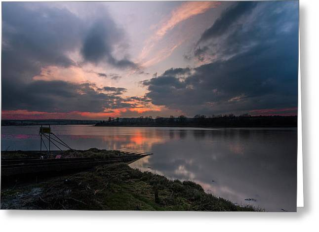 River Medway Sunset Greeting Card by Dawn OConnor