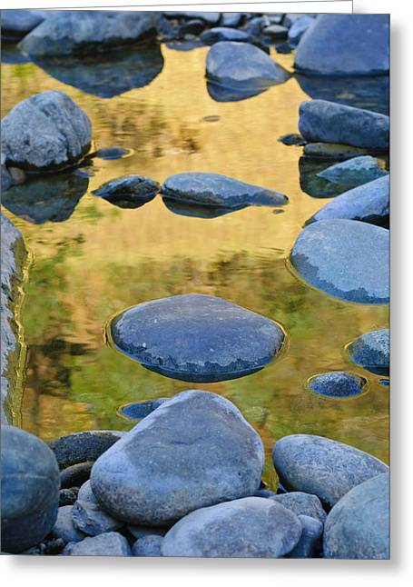 Greeting Card featuring the photograph River Of Gold by Sherri Meyer