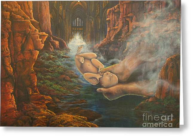Greeting Card featuring the painting River Of Life by Jeanette French