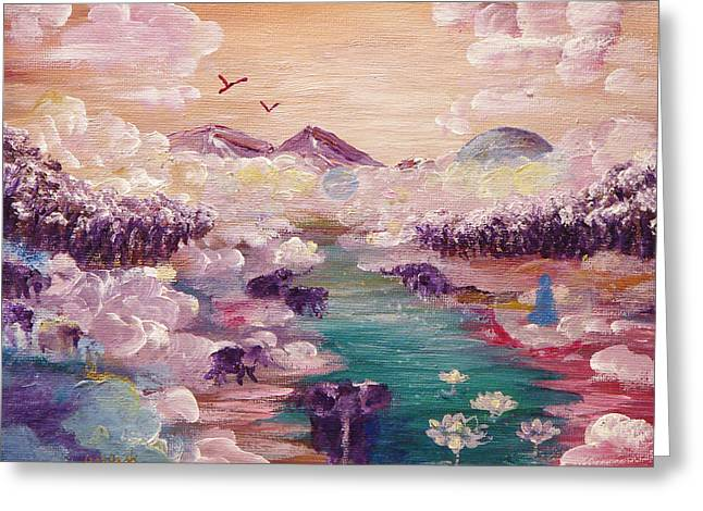 River Of Light Greeting Card by Ashleigh Dyan Bayer