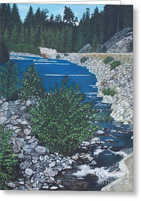 River Of Peace -2 Greeting Card