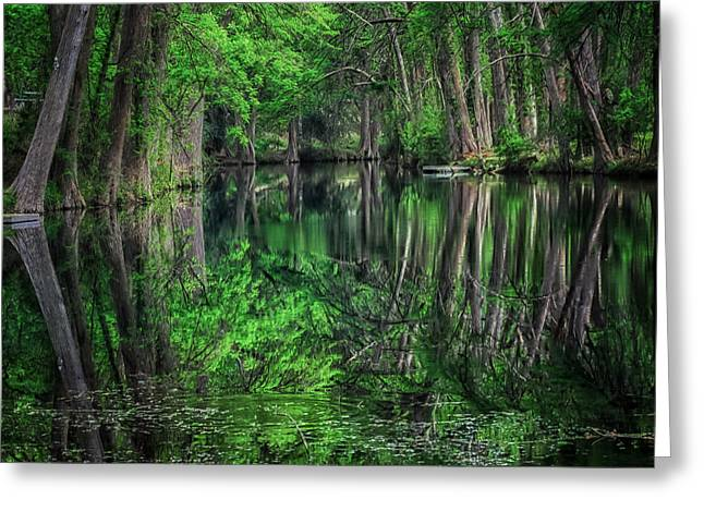 River Of Reflections Greeting Card