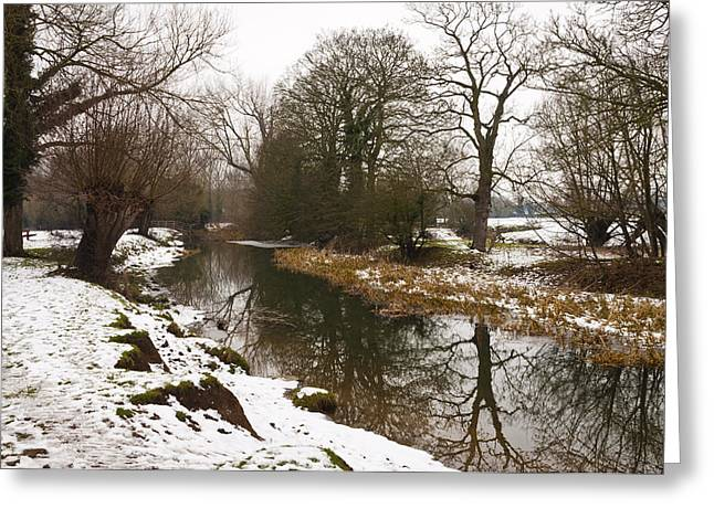 River Ouse In Snow Greeting Card