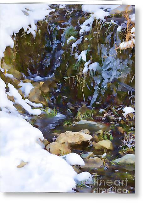 River Painting Greeting Card by Donna Greene