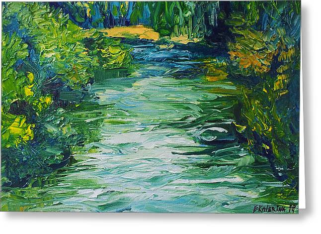 River Painting Greeting Card