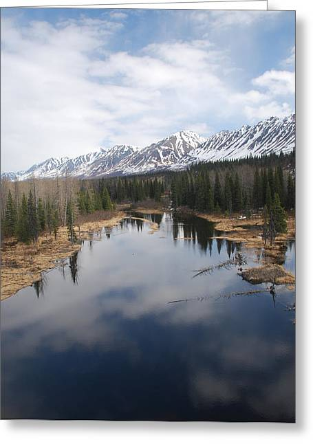 River Reflection Greeting Card