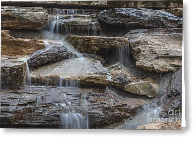 River Rock Waterfall Greeting Card