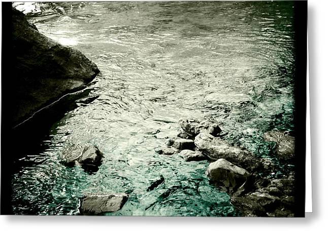 River Rocked Greeting Card by Susan Maxwell Schmidt