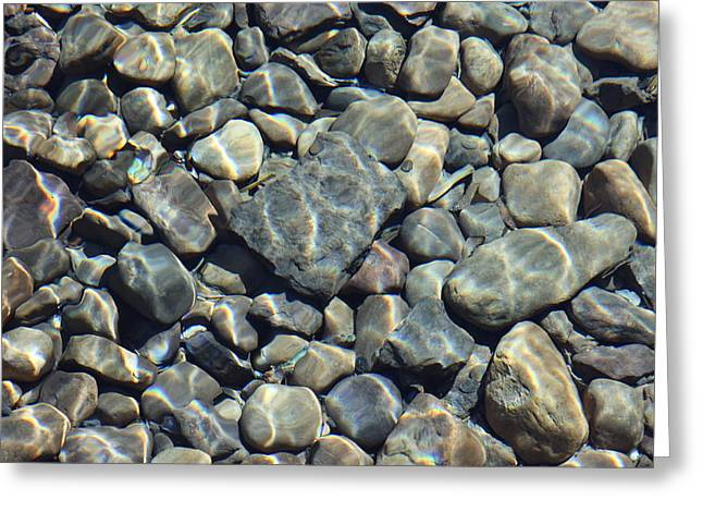 Greeting Card featuring the photograph River Rocks One by Chris Thomas