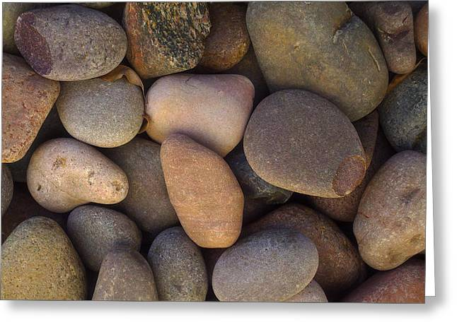 Greeting Card featuring the photograph River Rocks by Richard Stephen