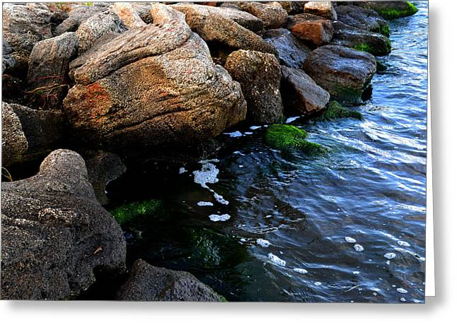 River Rocks Greeting Card by Victoria Clark