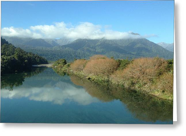 River Greeting Card by Ron Torborg