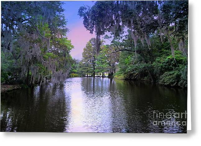 River  Runs Through Greeting Card by Kathleen Struckle