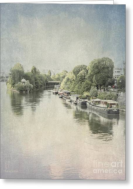River Seine In Paris Greeting Card