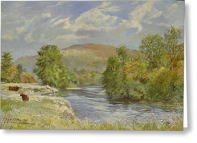 River Spey, Kinrara, 1989 Wc Greeting Card