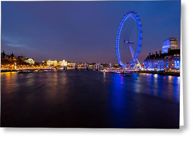 River Thames And London Eye Greeting Card