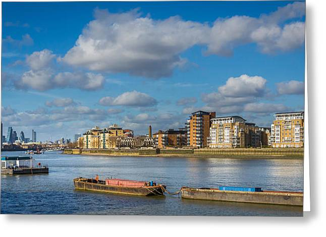 River Thames At Greenwich Greeting Card