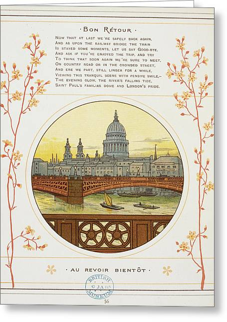 River Thames Greeting Card by British Library