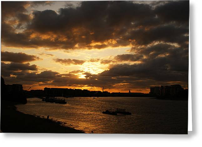 River Thames From Greenwich Greeting Card