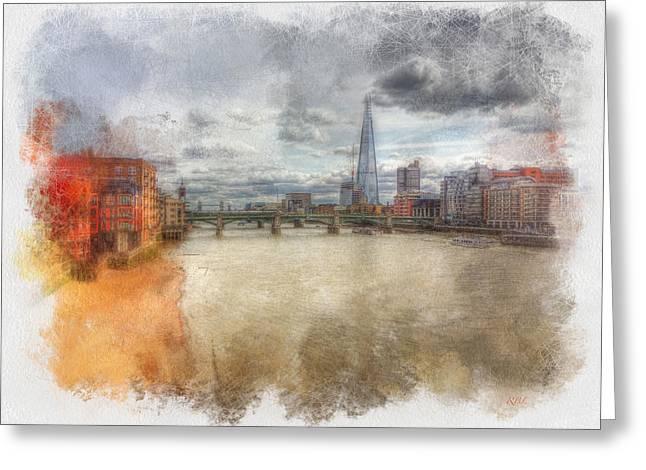 River Thames Greeting Card by Rick Lloyd