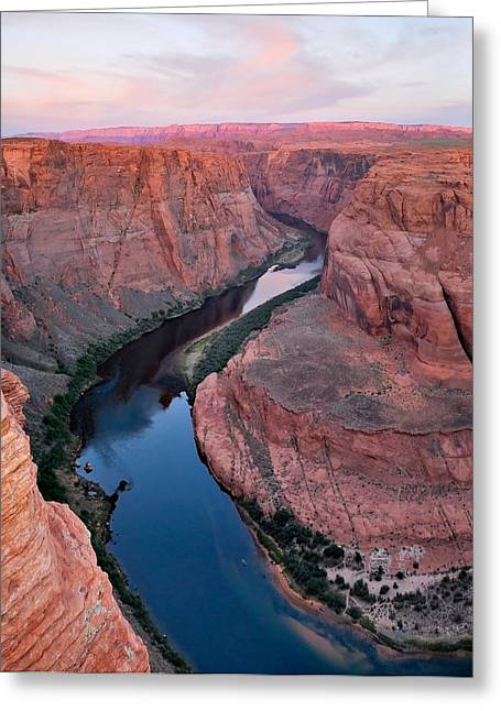 River Through Horseshoe Bend Greeting Card by Gregory Ballos