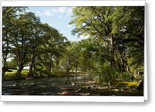 Greeting Card featuring the photograph River Time by Sharon Jones