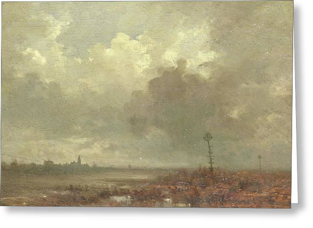 River View In Evening, Adolphe Mouilleron Greeting Card by Litz Collection