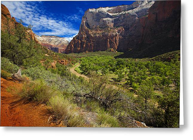 River View In Zion Park Greeting Card