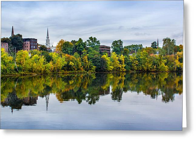 River View Of Brattleboro Vermont Greeting Card