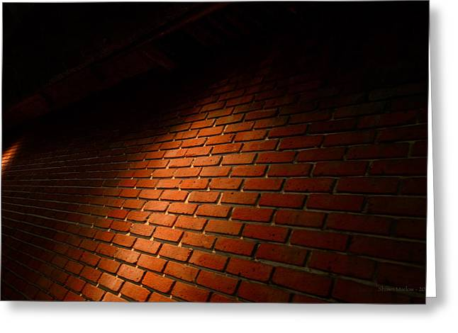 River Walk Brick Wall Greeting Card by Shawn Marlow