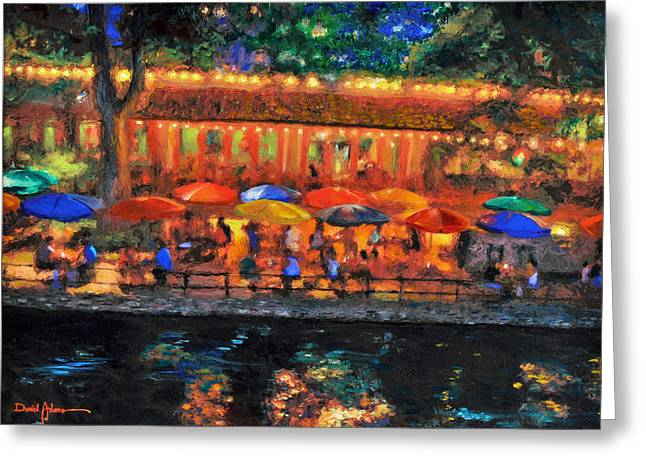 Da190 River Walk By Daniel Adams Greeting Card